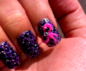 bow, leopard print, and nails image
