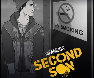 no smoking, delsin, and infamous second son image