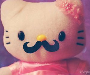 kitty, moustache, and cute image