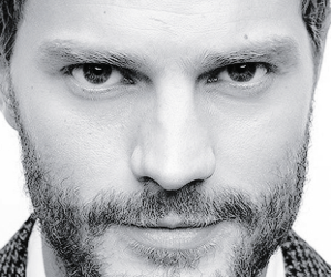 black and white, Jamie Dornan, and christian grey image