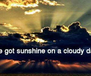 clouds, hope, and sunshine image