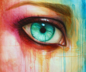 blue, colorful, and eye image