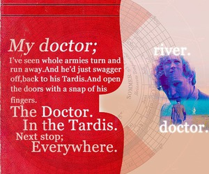 doctor who, everywhere, and river image