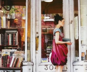 book, bookstore, and dress image