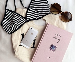 iphone, summer, and book image