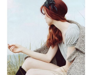 beautiful, red hair, and girl image