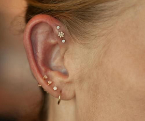 ear, piercing, and love image