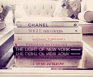 chanel, book, and vogue image
