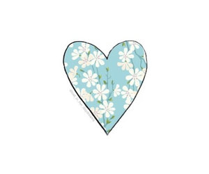 heart, flowers, and overlay image