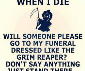 funny, grim reaper, and death image