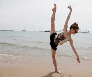 beach, ballet, and ocean image