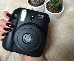 black, camera, and nails image