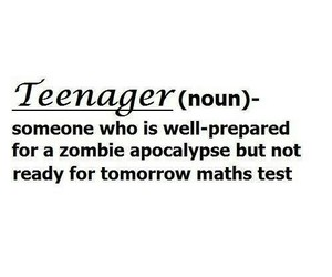 teenager, zombie, and funny image
