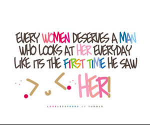quotes, woman, and deserves image