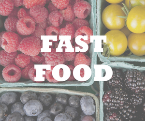 fast food, fit, and healthy image