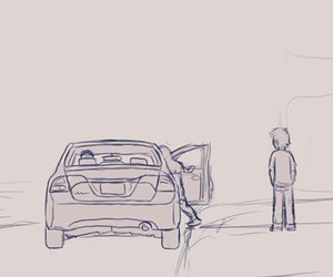 car, gravity falls, and dipper pines image