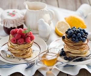 food, pancakes, and pastel image