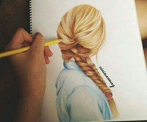 art, hair style, and beauty image