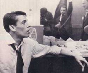 black and white, singer, and jacques brel image