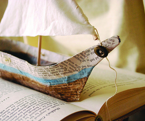book, boat, and Paper image