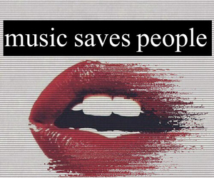 edit, lips, and music image