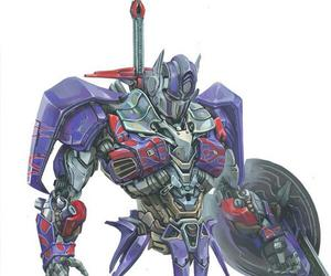 drawing, knight, and optimus prime image