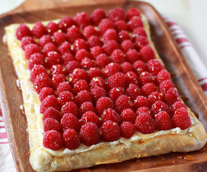 cream cheese, raspberry, and tart image