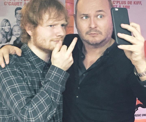ed sheeran, cauet, and france image