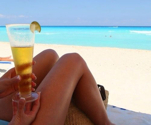 beach, relax, and drink image
