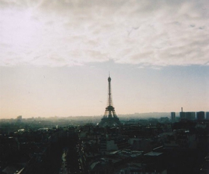 cloud, sky, and eiffel tower image