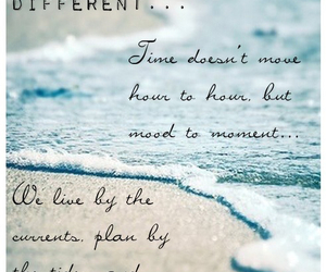 beach, quote, and seashore image