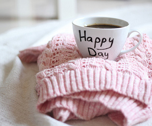 happy, coffee, and pink image