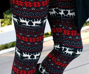 christmas, cozy, and leggings image