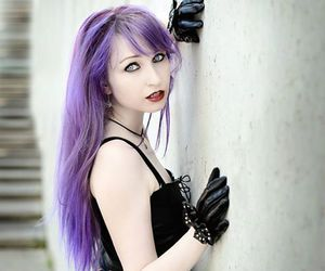 alt girl, colorfull hair, and dyed hair image