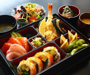 food, sushi, and bento image