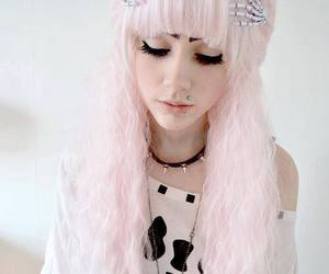 pastel goth, pink, and hair image
