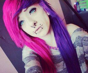 girl, hair, and Piercings image