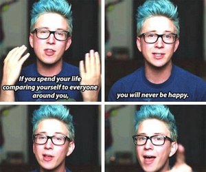 tyler oakley, quotes, and youtube image
