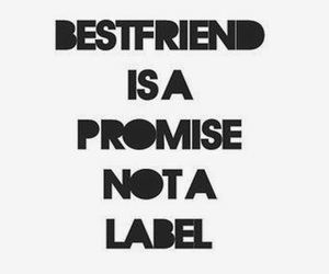 best friend, friendship, and promise image