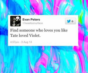 tate, violet, and evan peters image