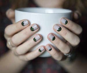nails, tea, and hands image