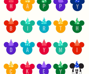 disney, mickey mouse, and birthday image