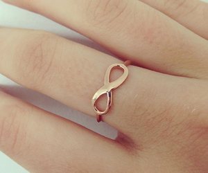 infinity, ring, and gold image