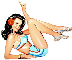 beauty, girl, and Pin Up image