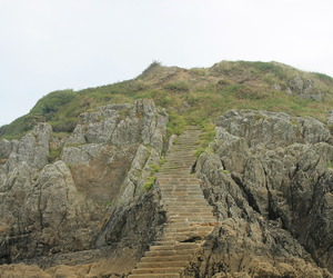 beach, hill, and steps image