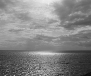 black and white, france, and sea image