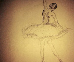 ballet, drawing, and pencil drawing image