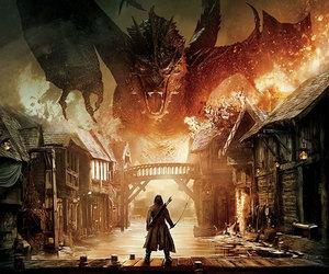 the hobbit, smaug, and hobbit image