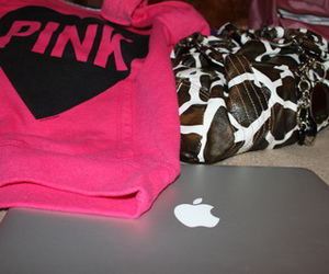 pink, apple, and purse image
