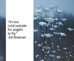 angel, cold, and ed sheeran image